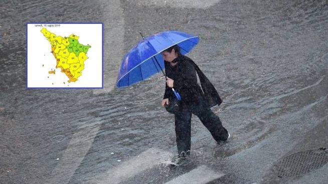 Lunedì 15 luglio scatta l'allerta meteo in Toscana