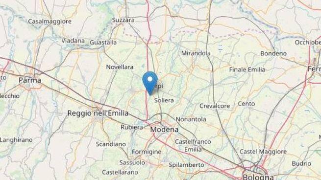 Terremoto, scossa tra Correggio e Carpi (foto Openstreetmap)