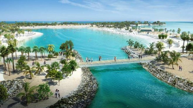 L'isola di Ocean Cay, nelle Bahamas