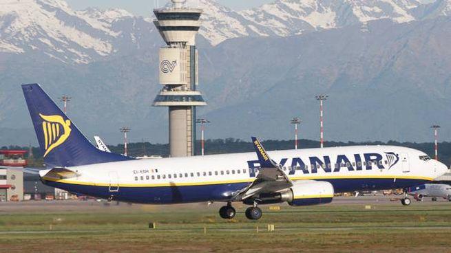 Un aereo della compagnia Ryanair (Newpress)