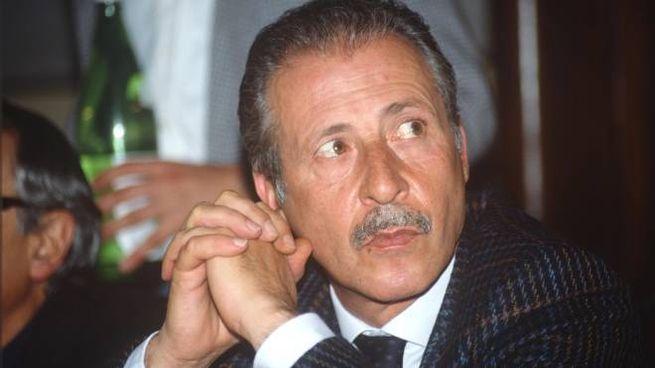 Paolo Borsellino in un'immagine d'archivio (Ansa)