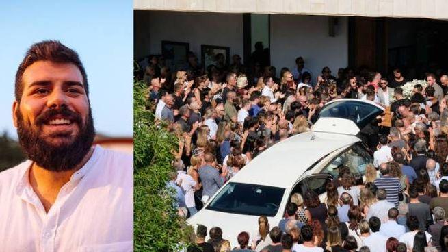 I funerali di Filippo Corvini (nel riquadro)