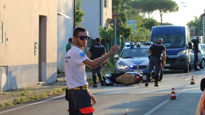 Il luogo dell'incidente (foto Valtriani)