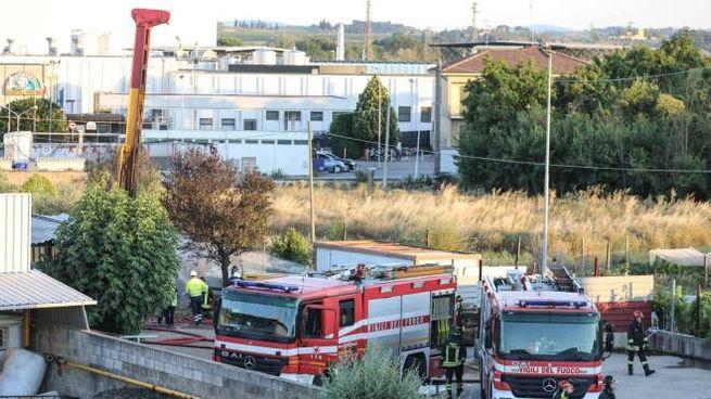 L'intervento dei vigili del fuoco (foto Tommaso Gasperini/Germogli)