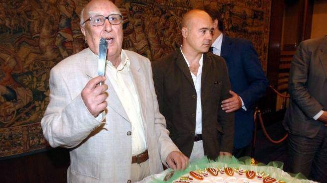 Andrea Camilleri e Luca Zingaretti (Imagoeconomica)