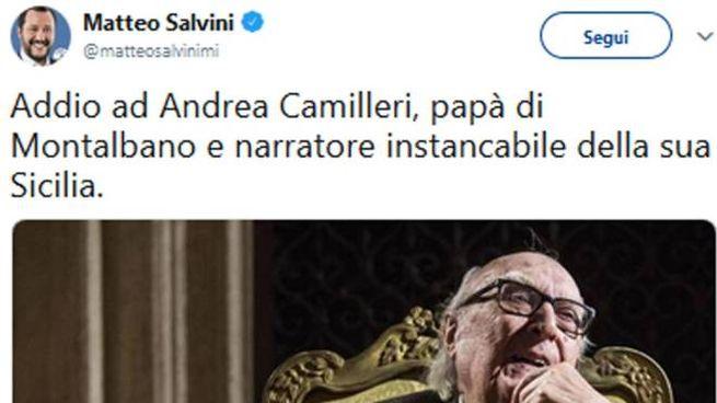Il tweet di Matteo Salvini (Twitter/Ansa)