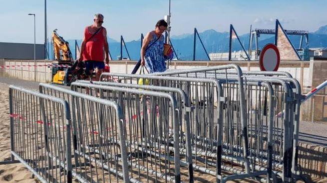 Il Muraglione si trasforma in un cantiere (foto Umicini)