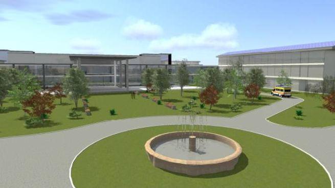 Cesena, il rendering del nuovo ospedale