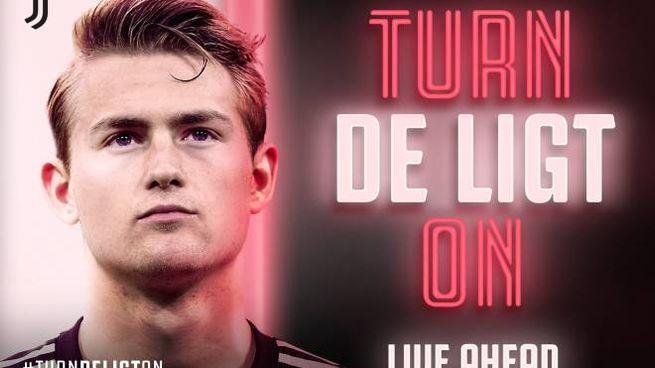 L'annuncio della Juve dell'ufficialità di de Ligt