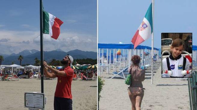 Bandiere a mezz'asta negli stabilimenti balneari per la piccola Sofia (Umicini)