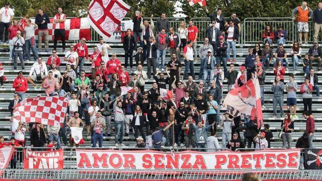 I tifosi del Rimini (Foto Petrangeli)