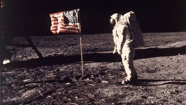 Buzz Aldrin sulla Luna (Nasa)