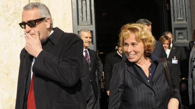Stefania e Bobo Craxi, figli di Bettino (AnsA)