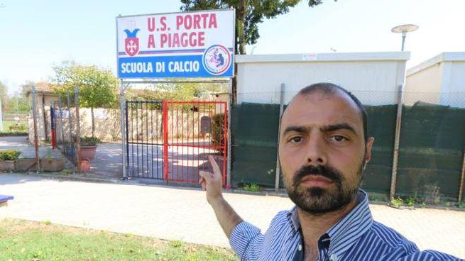 L'ingresso del centro  di via San Cataldo (foto Valtriani)