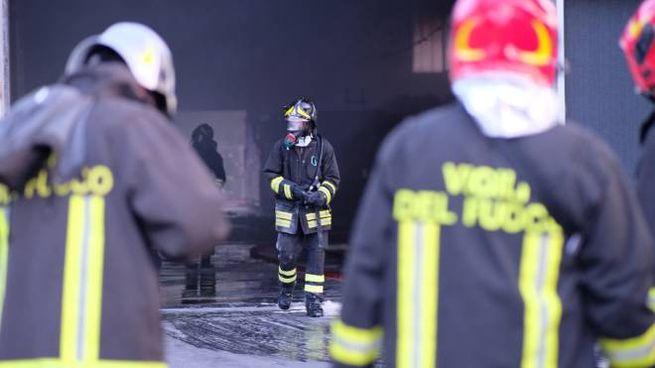 I Vigili del fuoco in azione