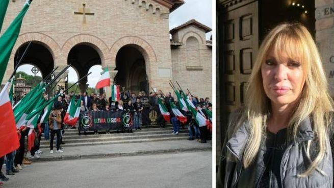 Alessandra Mussolini e la cripta di famiglia a Predappio