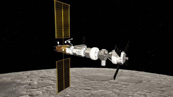Rendering del Lunar Gateway (Foto: ESA/NASA/ATG Medialab)