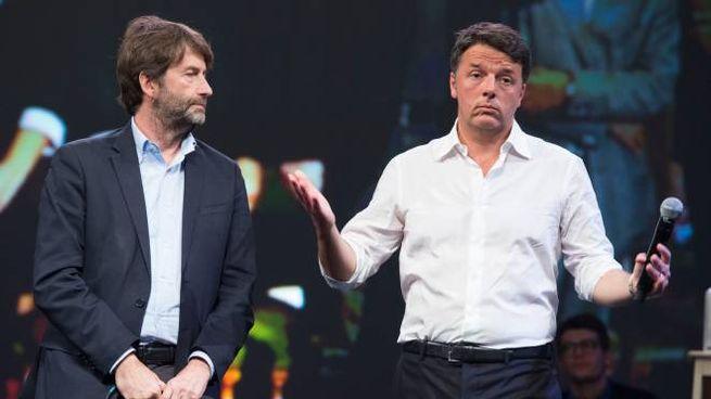 Matteo Renzi e Dario Franceschini (ImagoE)