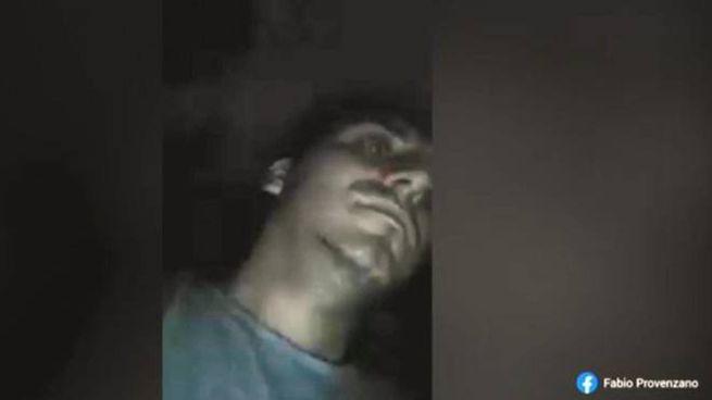 Un fermo immagine del video postato da Fabio Provenzano prima dell'incidente (Ansa)