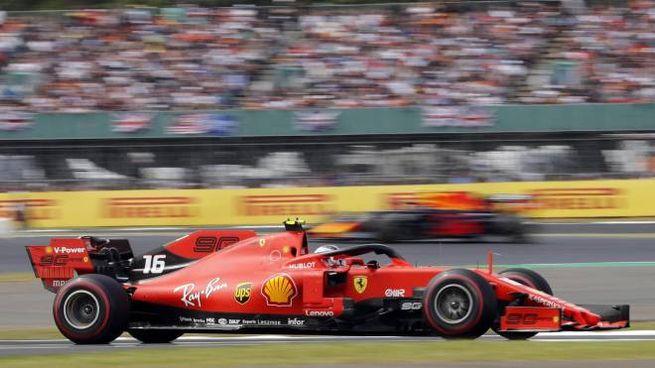 F1, Charles Leclerc sulla Ferrari (foto Ansa)