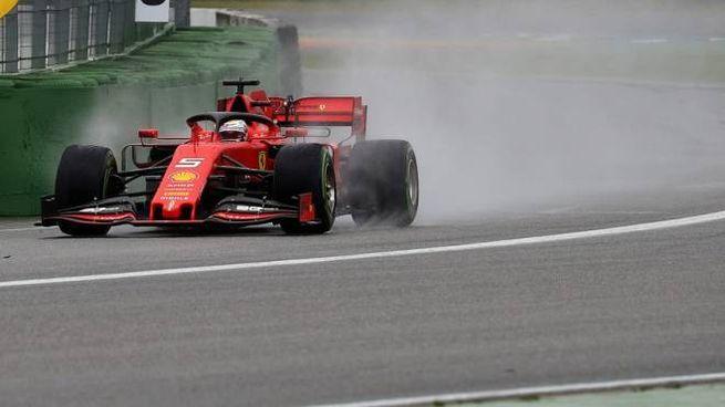 F1, Gp di Germania, Sebastian Vettel (foto Lapresse)