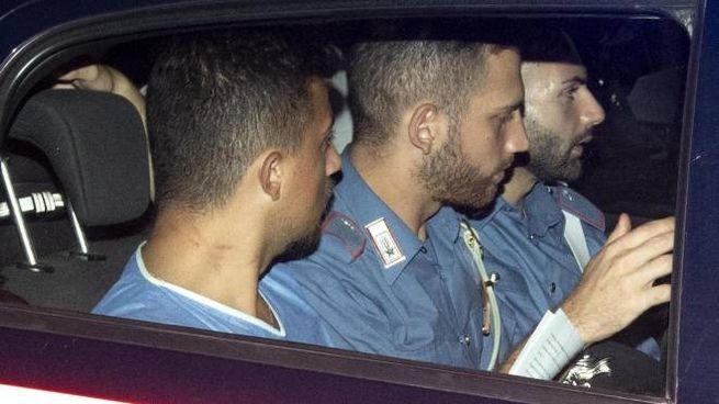 Il carabiniere Andrea Varriale (a sx), collega di Mario Cerciello Rega (Ansa)