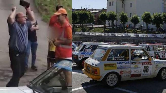 A sinistra, le proteste del religioso in un fotogramma del video