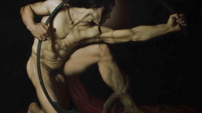 Roberto Ferri, titolo: Achille, olio su tela