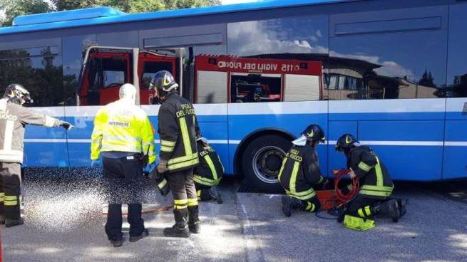 Il tragico incidente sulla Futa a Monghidoro (foto Radogna)