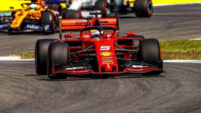 Sebastian Vettel in azione (Ansa)