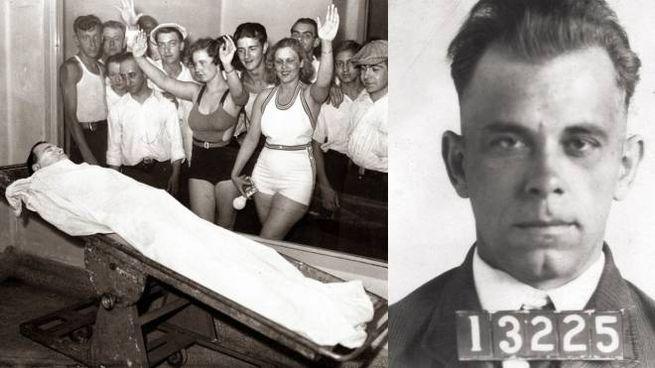 Nel 1934, quando John Dillinger venne ucciso, curiosi poterono vedere i resti del gangster