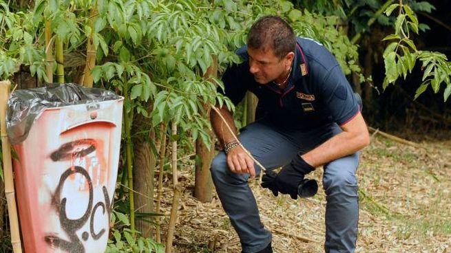 Gli agenti del commissariato hanno recuperato 10 grammi di marijuana (Foto Calavita)