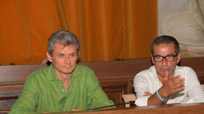 Il sindaco Fabrizio Fracassi e l'assessore allo Sport Pietro Trivi