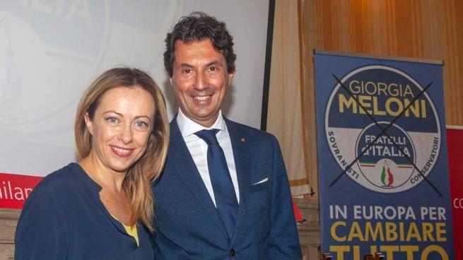 Giorgia Meloni con Andrea Mascaretti, passato da FI a Fratelli d'Italia