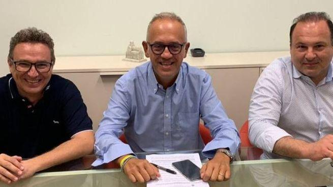 Da sinistra Tosoni, il sindaco Ciarapica e Profili, concordi e affiatati dopo le tensioni