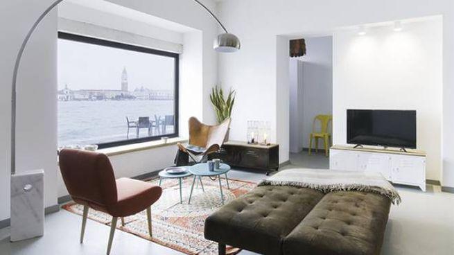 Un appartamento con vista sul bacino di San marco