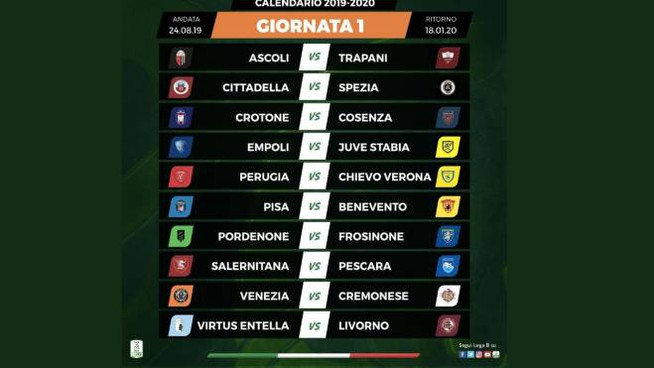 Calendario Entella.Serie B Il Calendario Il Livorno Inizia Con L Entella