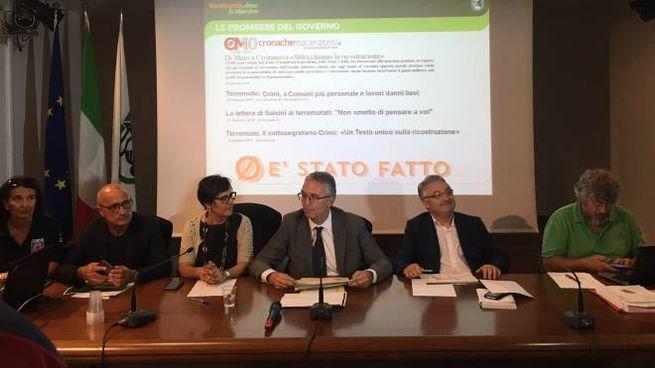 Terremoto Marche, la conferenza stampa della Regione con il presidente Ceriscioli