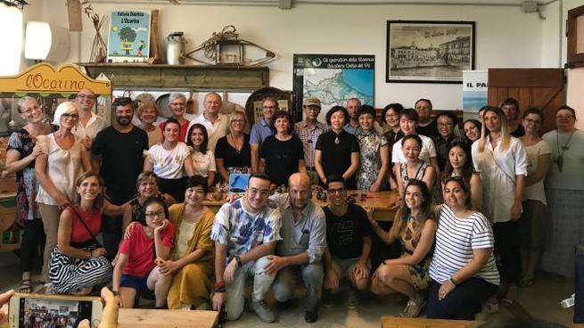 Delegazione sbarca nella fattoria didattica e museo di Benvenuto Fecchio