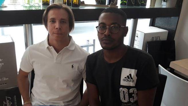 Pietro Braga, 18 anni, con l'avvocato Barnaba Busatto