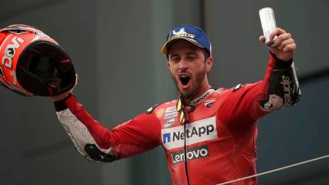 MotoGp, Dovizioso ha dedicato la vittoria in Austria a Luca Semprini (Foto  Afp)