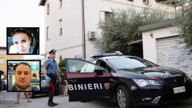 Omicidio suicidio a Pesaro: nei riquadri Maria e Andrea Cegolea (Fotoprint)