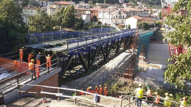 I lavori sulla linea Faentina