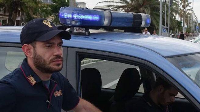 La polizia a lavoro