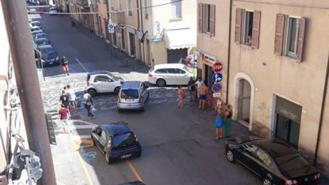 Uno degli incidenti più recenti all'incrocio di via Clodia e via Giovanni XXIII