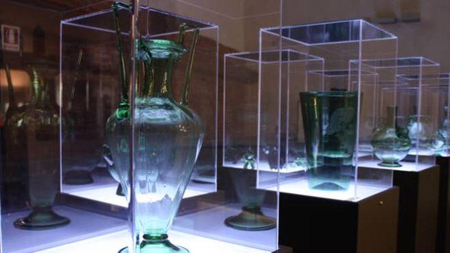 Un particolare del Museo del Vetro di via Ridolfi a Empoli