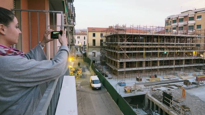La contestata costruzione del palazzo di piazza Martiri