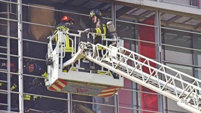 Incendio in ospedale a Bergamo