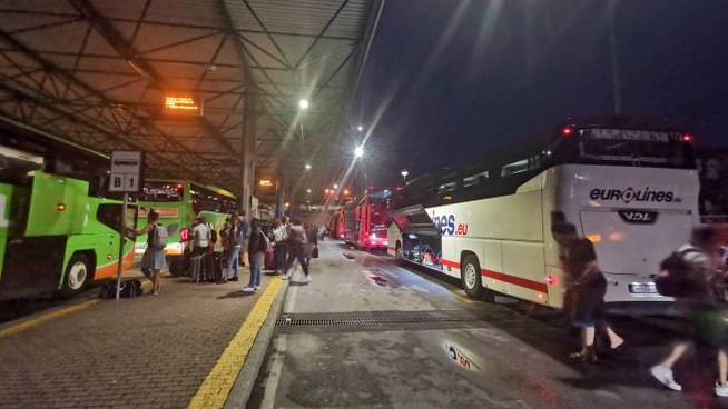 Il terminal degli autobus di Lampugnano