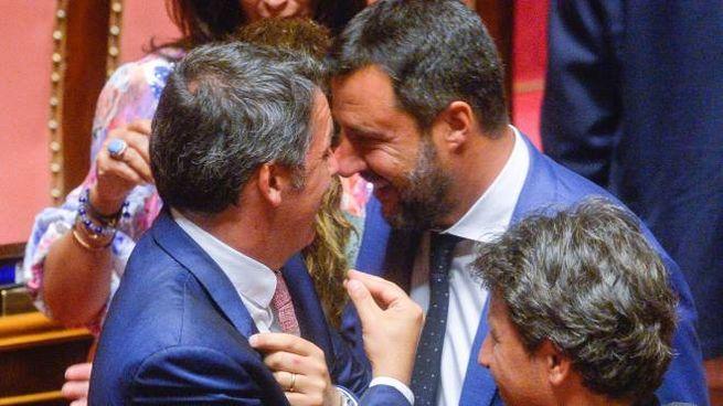 Matteo Salvini e Matteo Renzi (ImagoEconomica)
